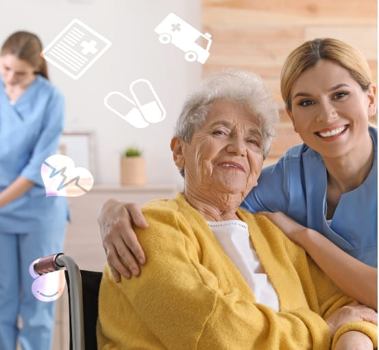 nurse helping with home health care / personal care